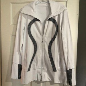 Lululemon black strip define jacket with full zip